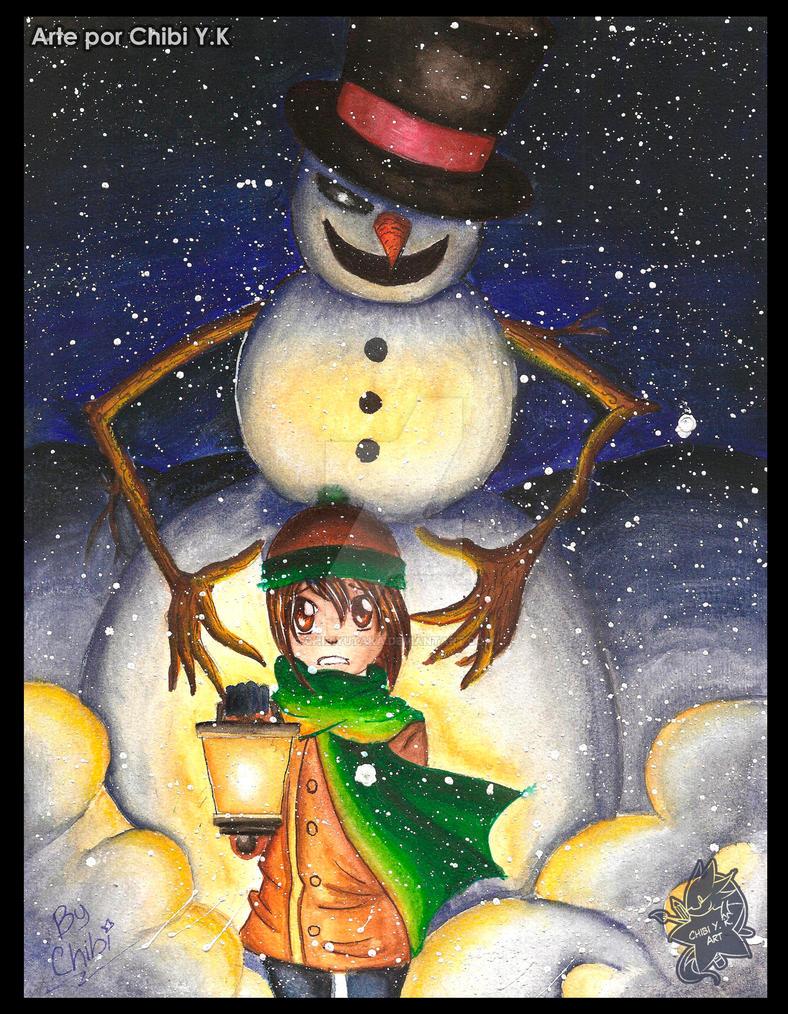 Creepy snowman by ChibiYutaka