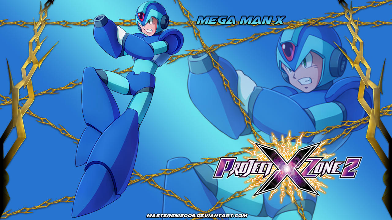 Project X Zone 2 Wallpaper Mega Man X By Mastereni2009 On Deviantart