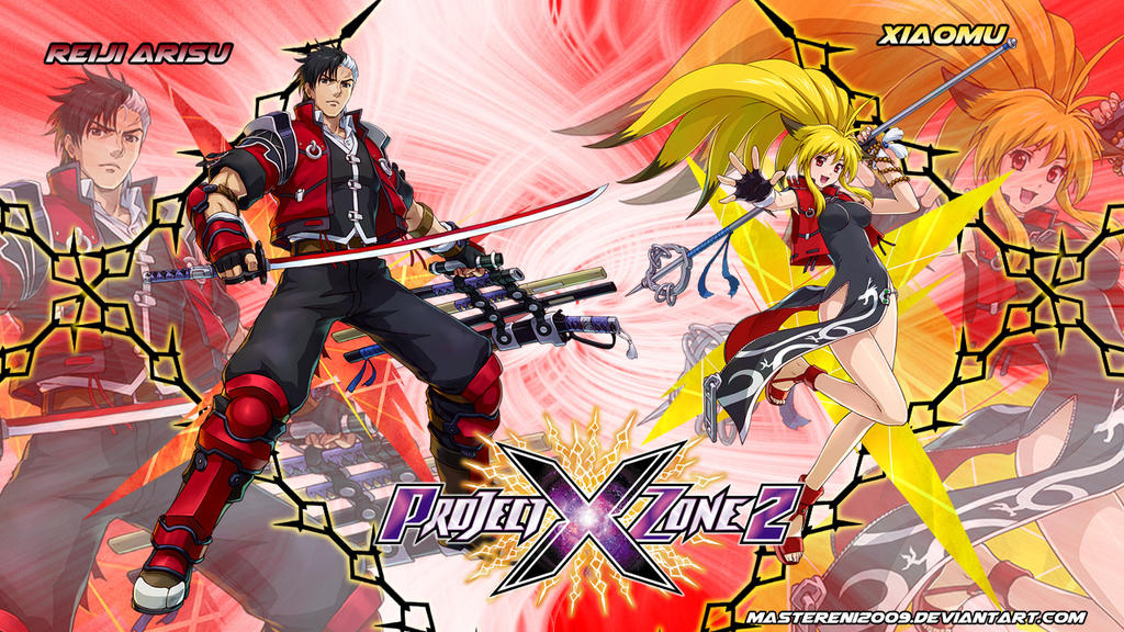 Project X Zone 2 wallpaper - Reiji and Xiaomu v2