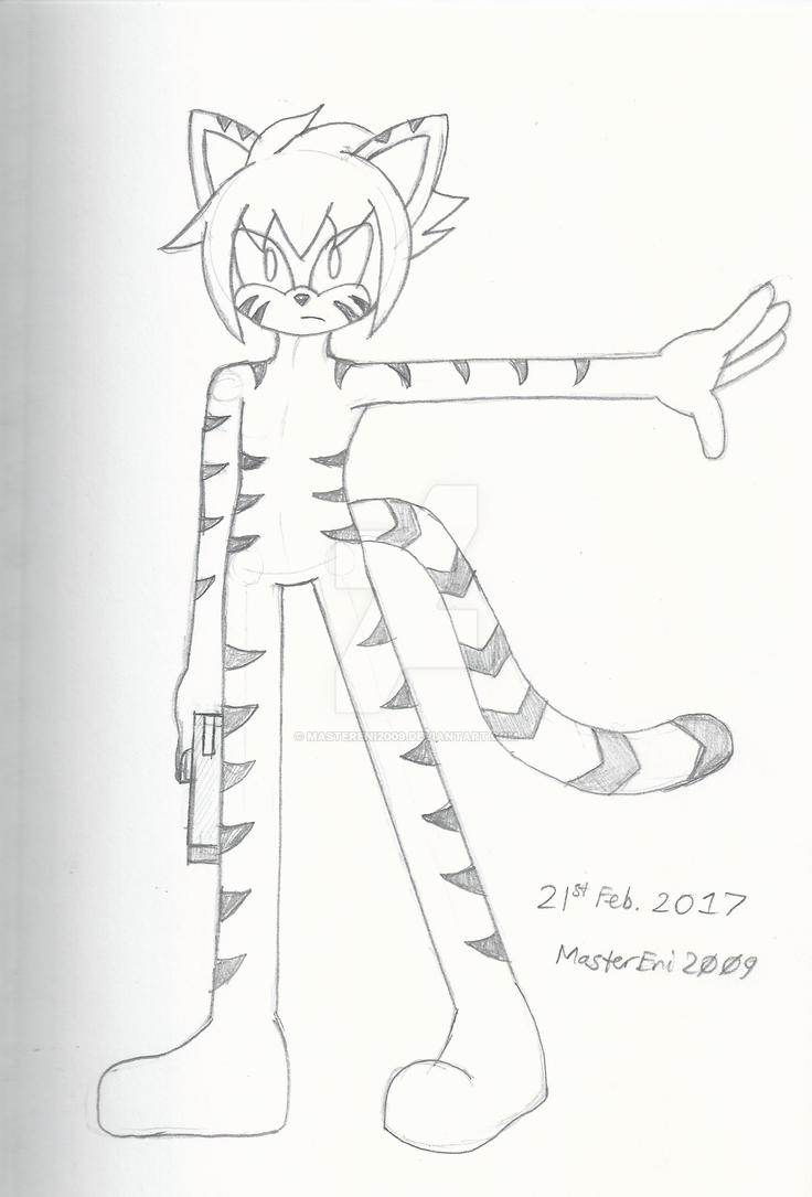 White Tiger mobian sketch by MasterEni2009