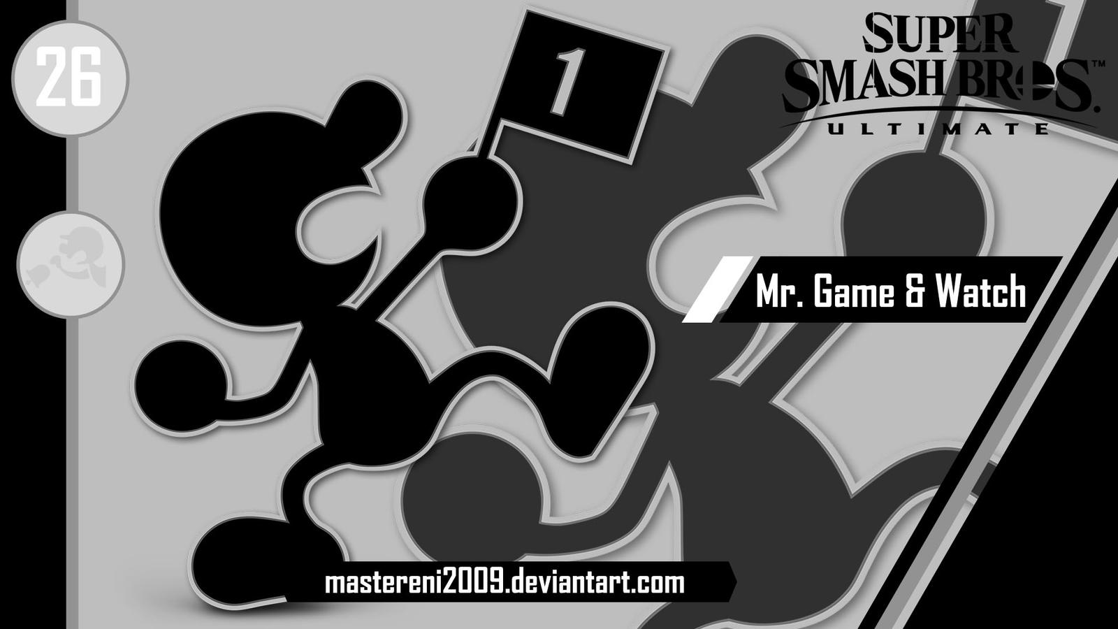 Ssbu Custom Wallpaper 26 Mr Game And Watch By Mastereni2009 On