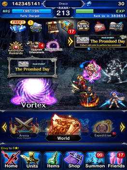 FFBE screenshot: The Promised Day Raid Event