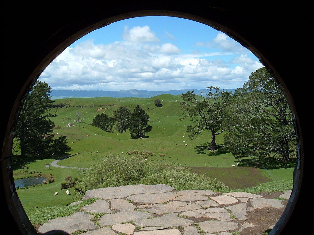Bilbo and Frodo's View by HomieBear