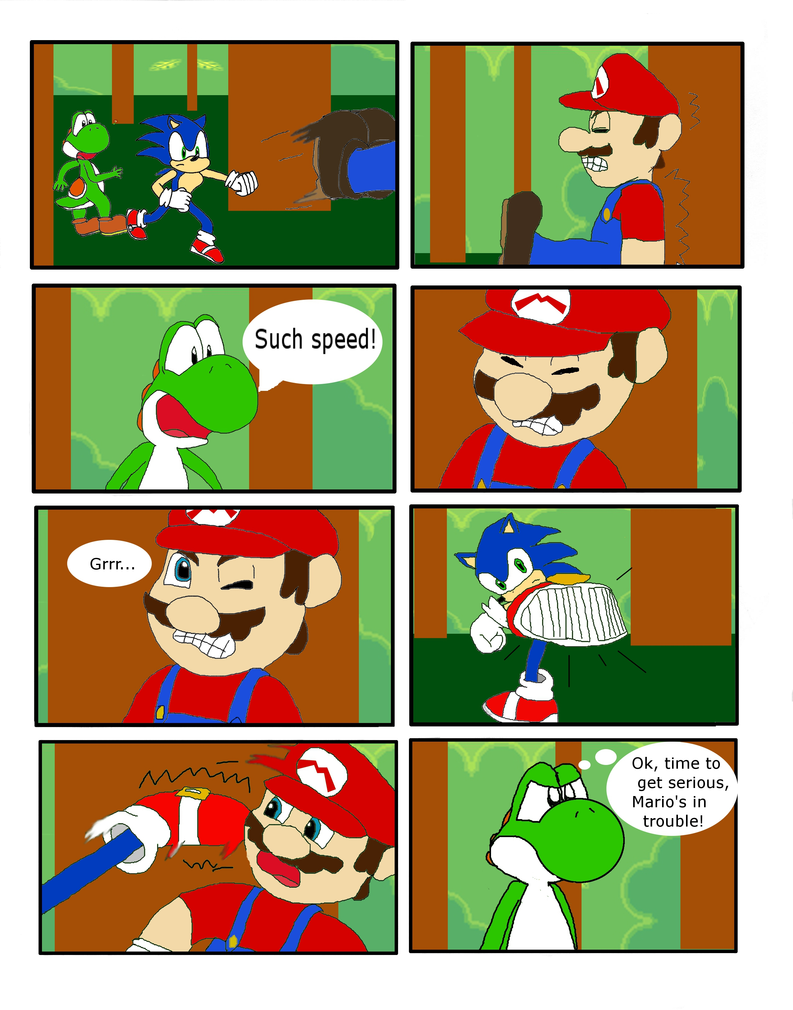 mario vs sonic part 4yoshij1had on deviantart