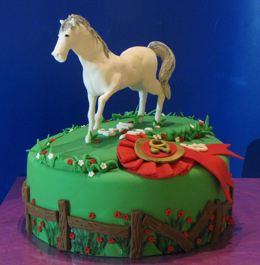 handsculpted fondant horse cake by mysweetstop on DeviantArt