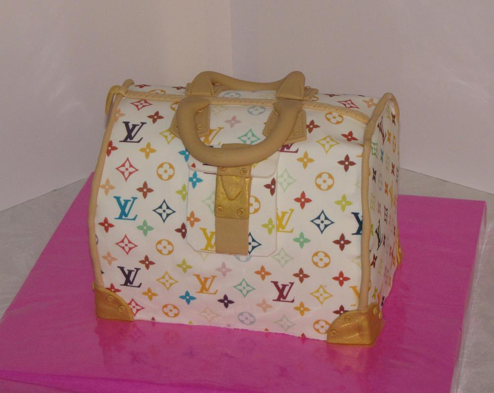 Louis Vuiton Bag Cake by mysweetstop