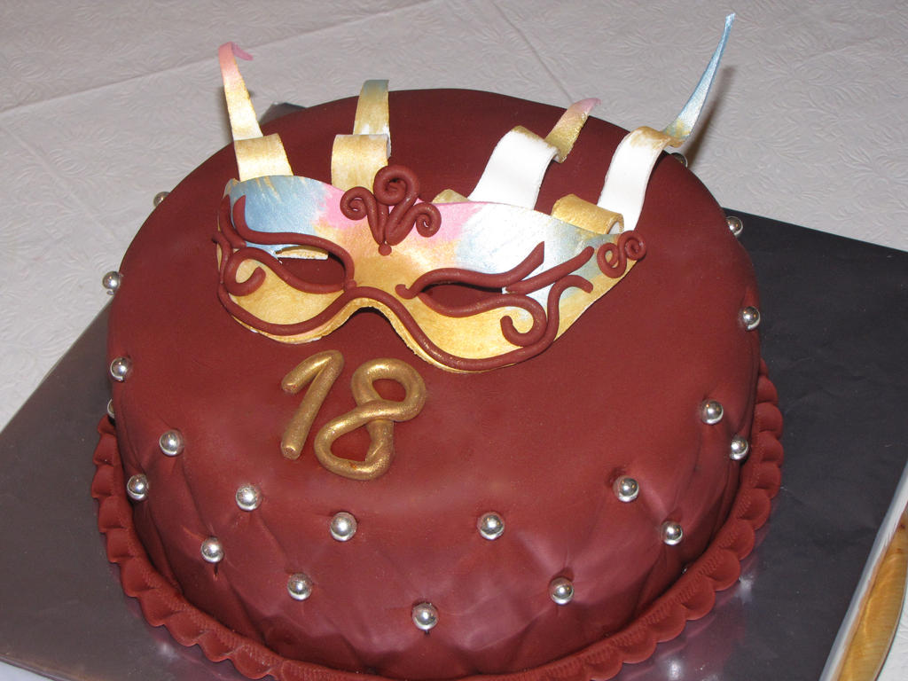 Masquerade Cake by mysweetstop