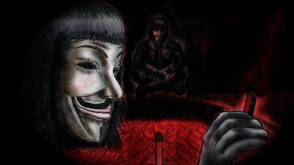 V For Vendetta Sketch V For Vendetta Domino by