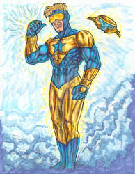 Booster Gold  Copic Sketch