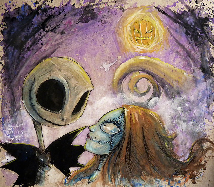 Jack And Sally The Nightmare Before Christmas By