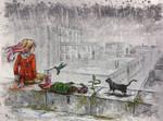 Fox In The Rain