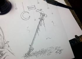Inktober Day 8 - Crooked by AdamScythe