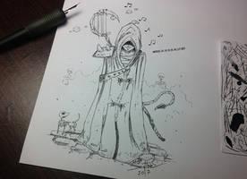 Inktober Day 15 - Mysterious by AdamScythe