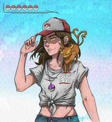 Pokemon Trainer Girl by AdamScythe