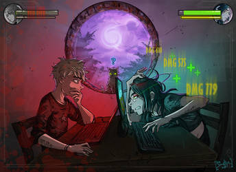 Game Night by AdamScythe