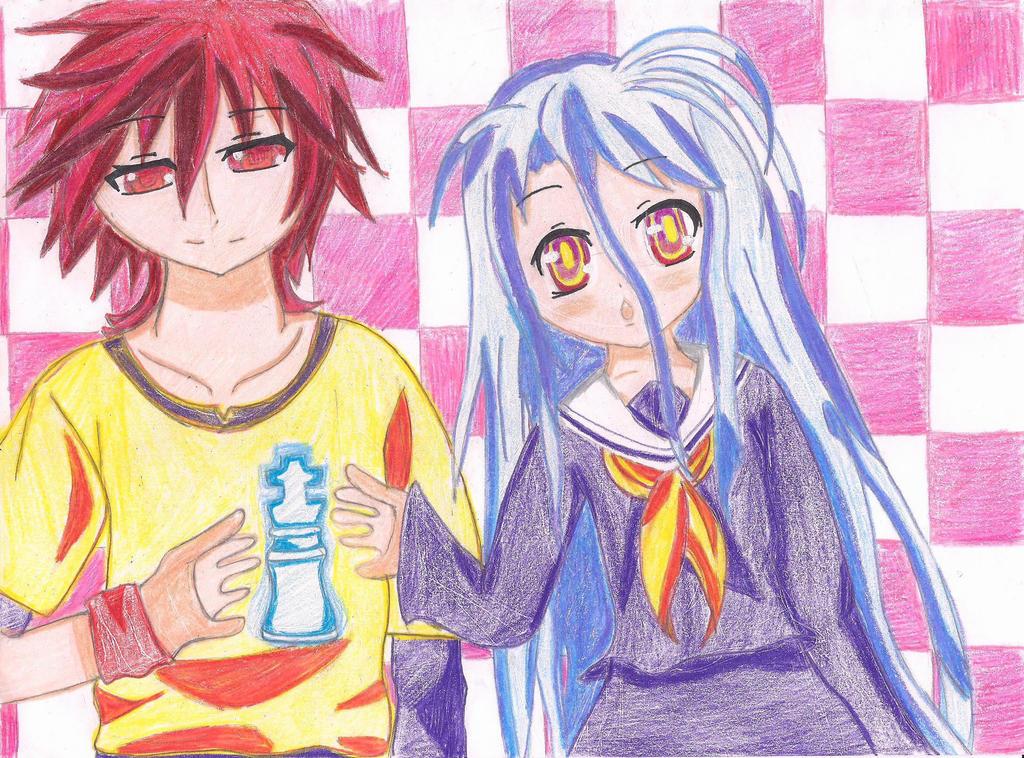 No Game No Life: Sora and Shiro by MagicalMadoka