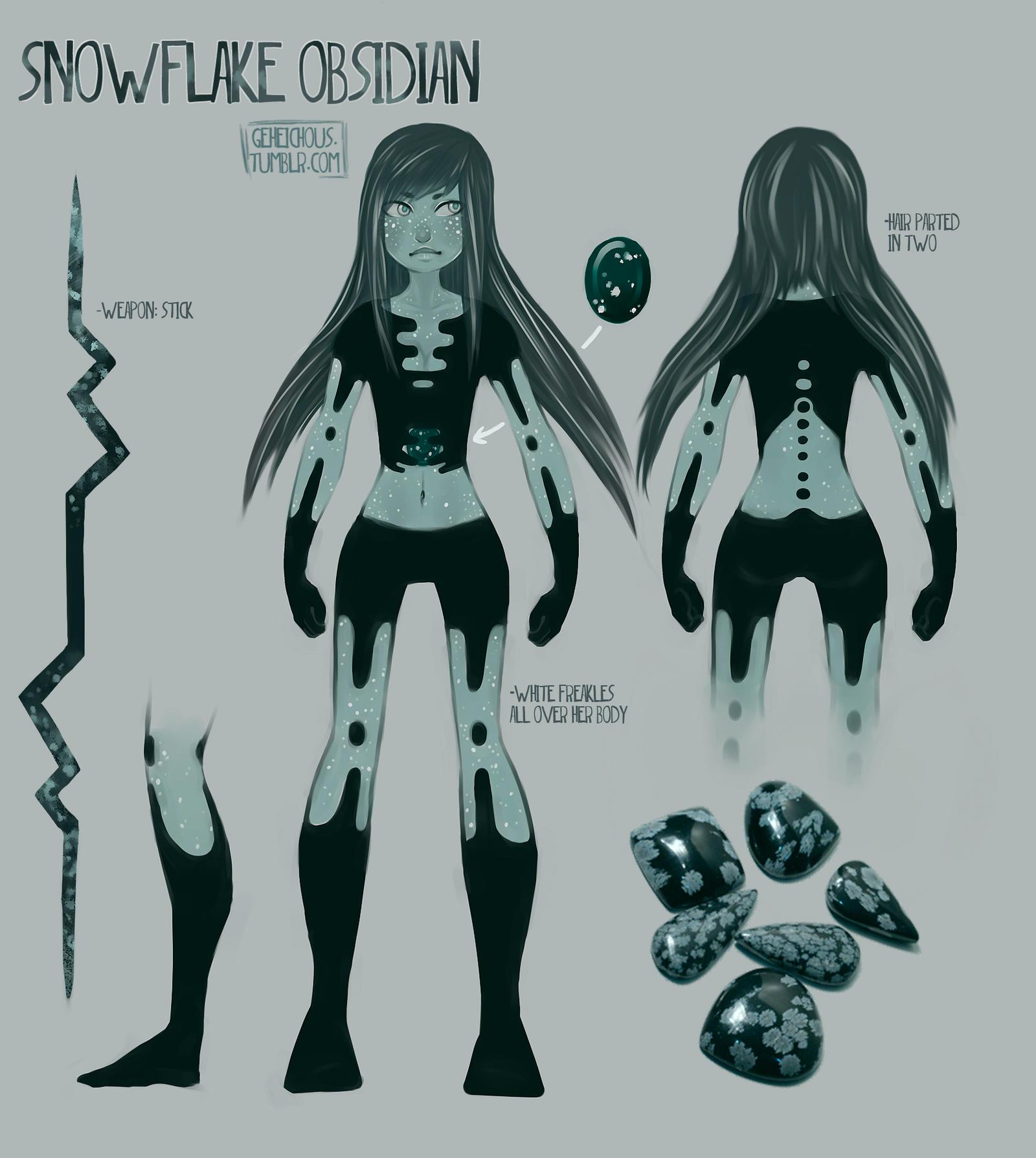 snowflake obsidian gemsona by - photo #19