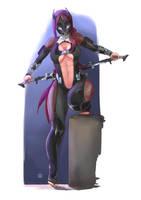 OC: Demon Hunter Afra by Feindall