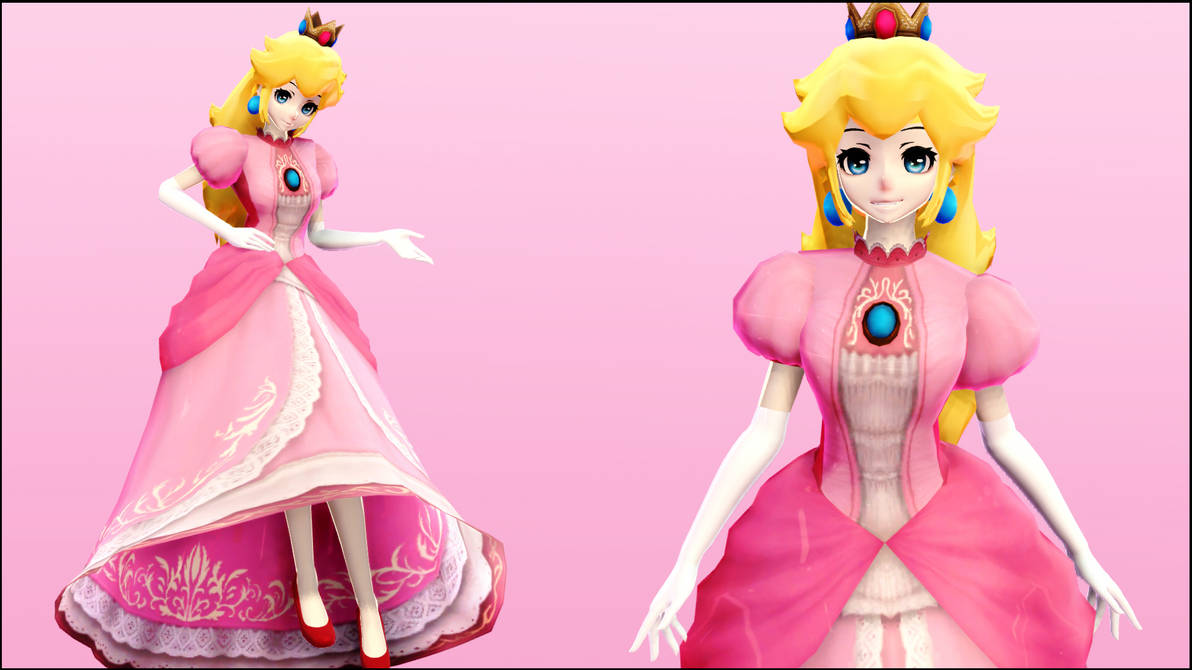 MMD:Princess Peach One Piece by AmaneHatsura on DeviantArt