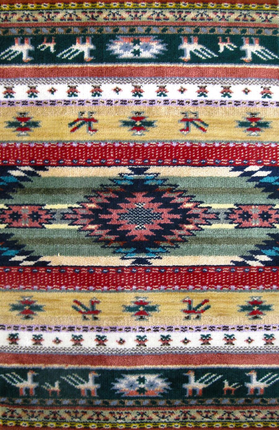native american rug by