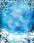 Winter Painted Background