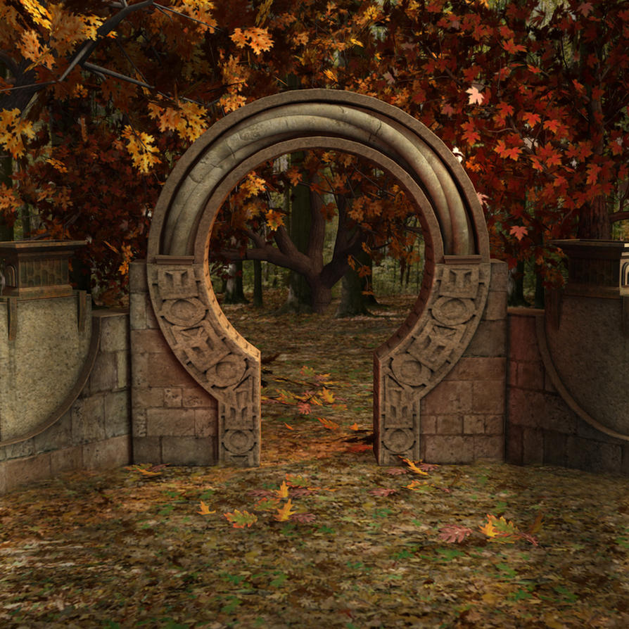Autumn Gate by Cynnalia-Stock