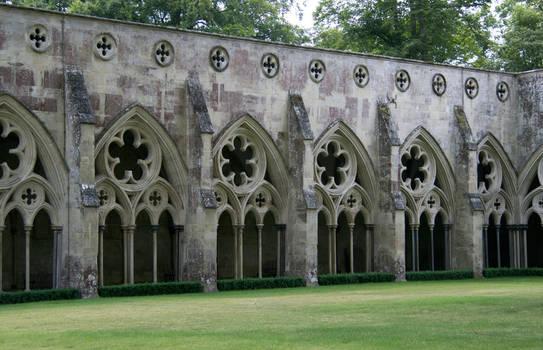 Salisbury Cathedral Courtyard