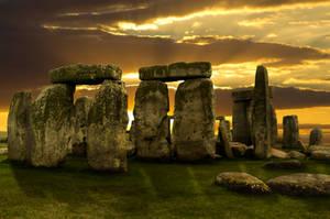 Stonehenge Sunset by Cynnalia-Stock