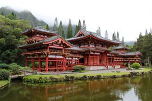 Byodo-In Temple in Oahu by Cynnalia-Stock