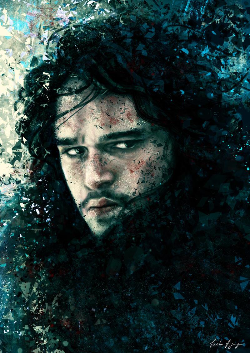 Jon Snow. by VarshaVijayan