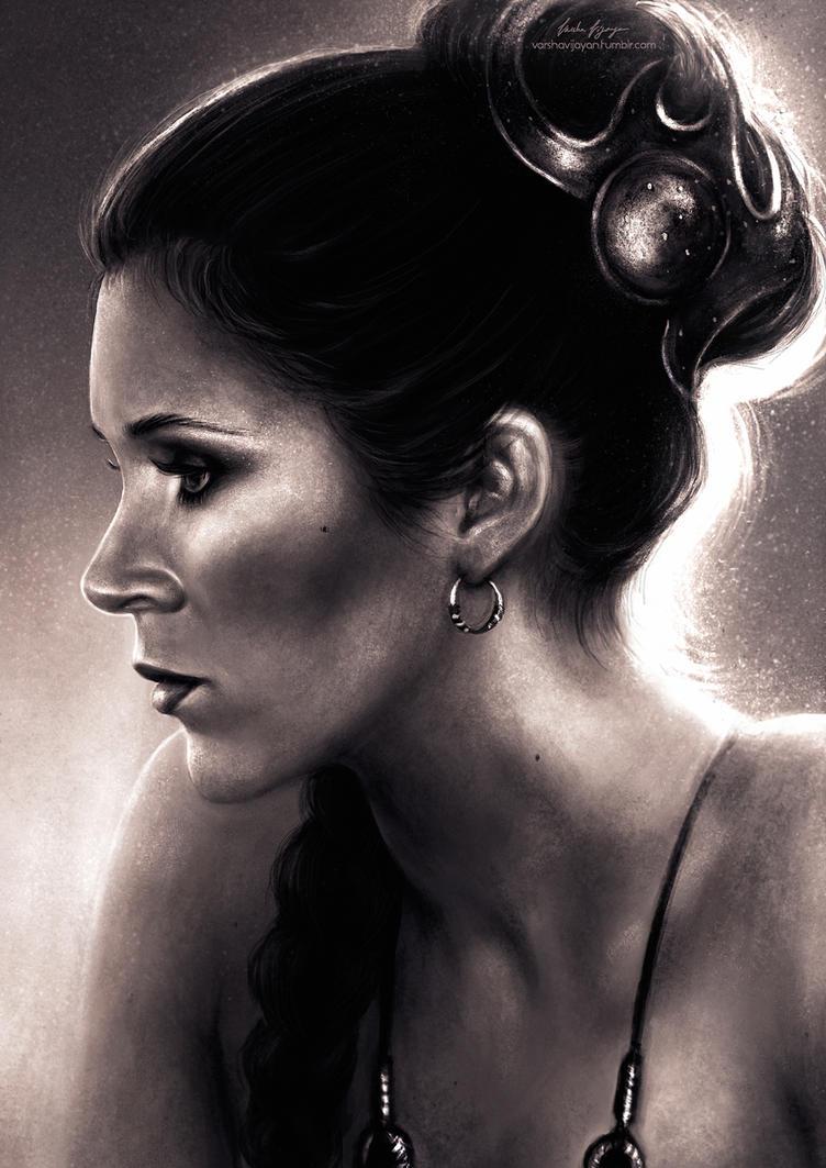 Portrait of Leia. by VarshaVijayan