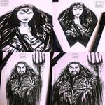 Sketches - Wonder Woman / Aquaman
