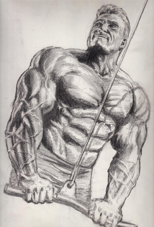 Bodybuilder Sketch By Bonesdeviant On Deviantart
