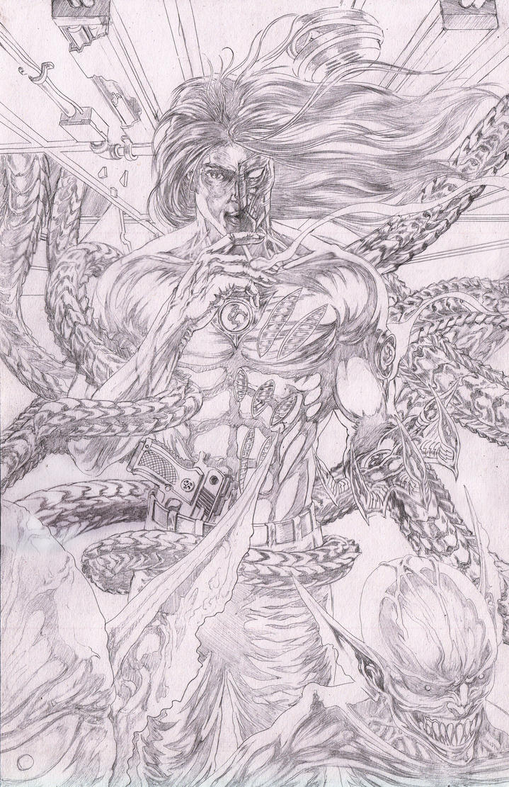 Darkness Mock Cover1 Pencil by bonesdeviant