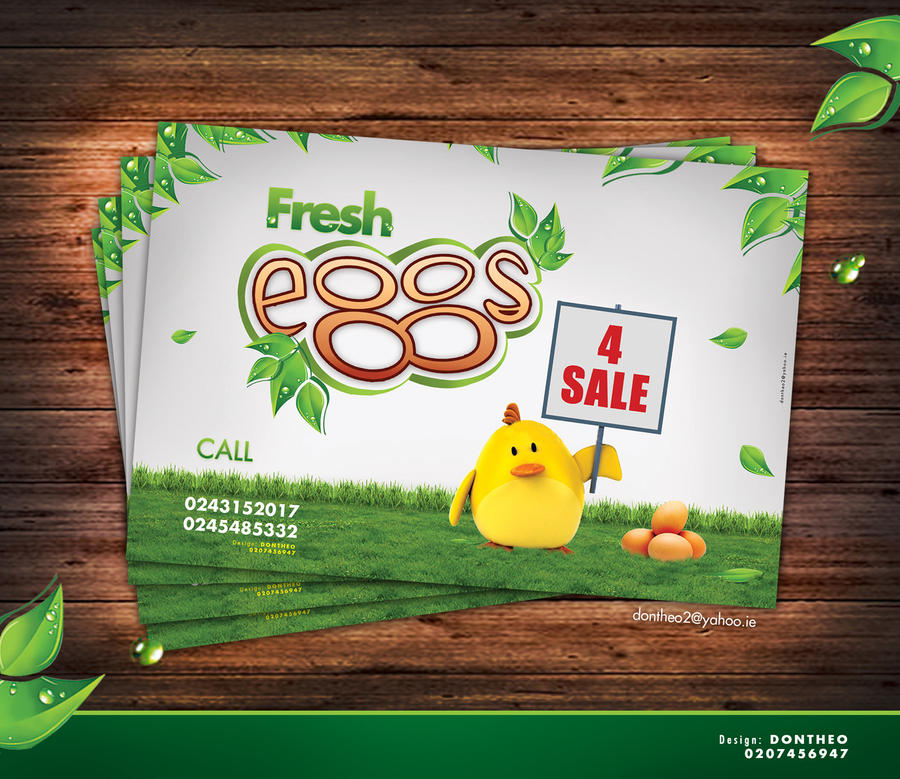 eggs for sale flyer design by dontheo2 on DeviantArt – Sale Flyer Design