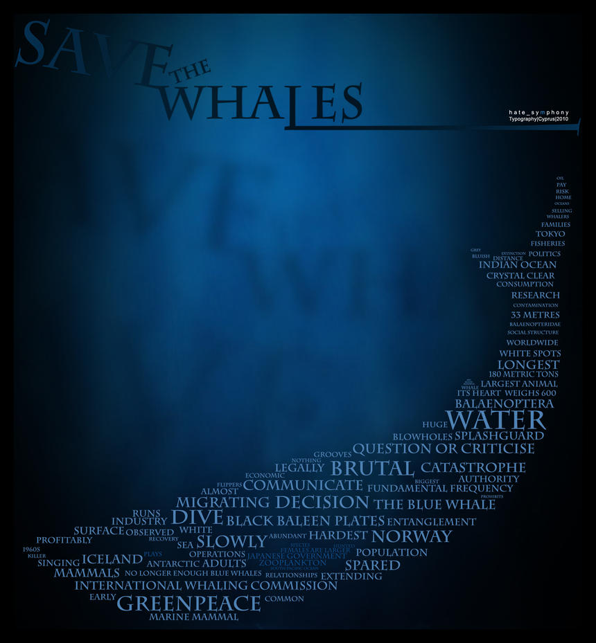 SAVE THE WHALES by hatesymphony