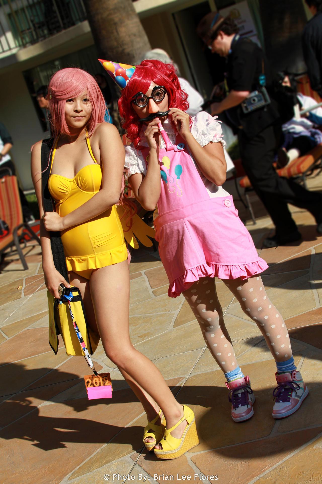 My Little Pony: FIM - Fluttershy and Pinkie Pie by BrianFloresPhoto