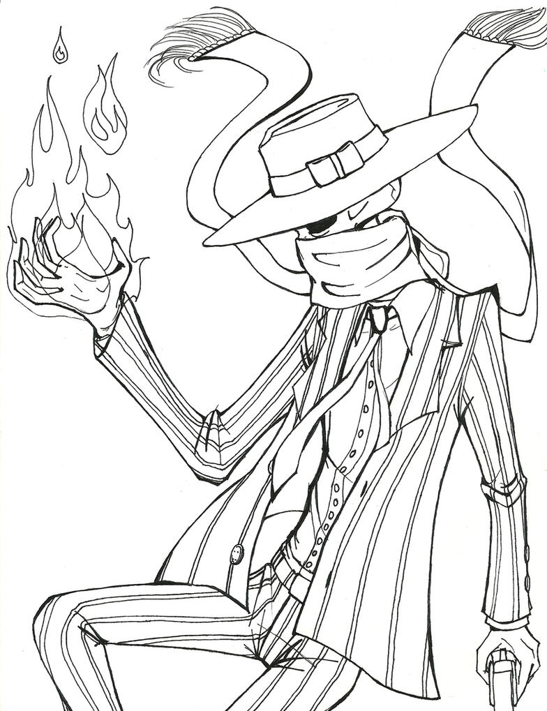 Coloring Pages Skulduggery Pleasant