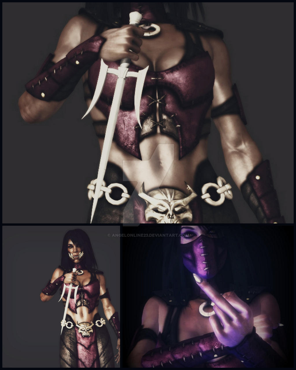Mileena XD (Mortal Kombat) by ANgELoNlINe23 on DeviantArt