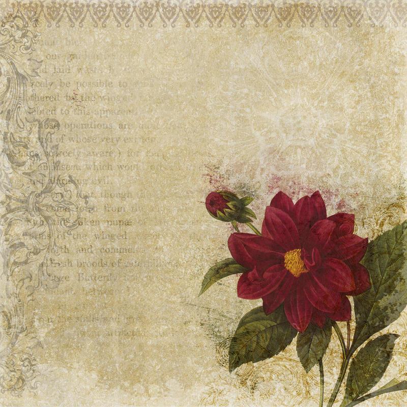 floral vintage texture by Etoile-du-nord