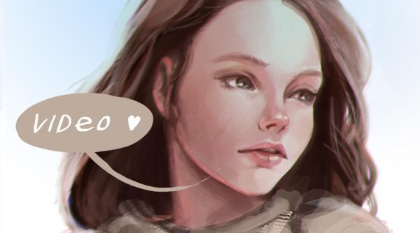 Girl's Face timelaps by AppleSin