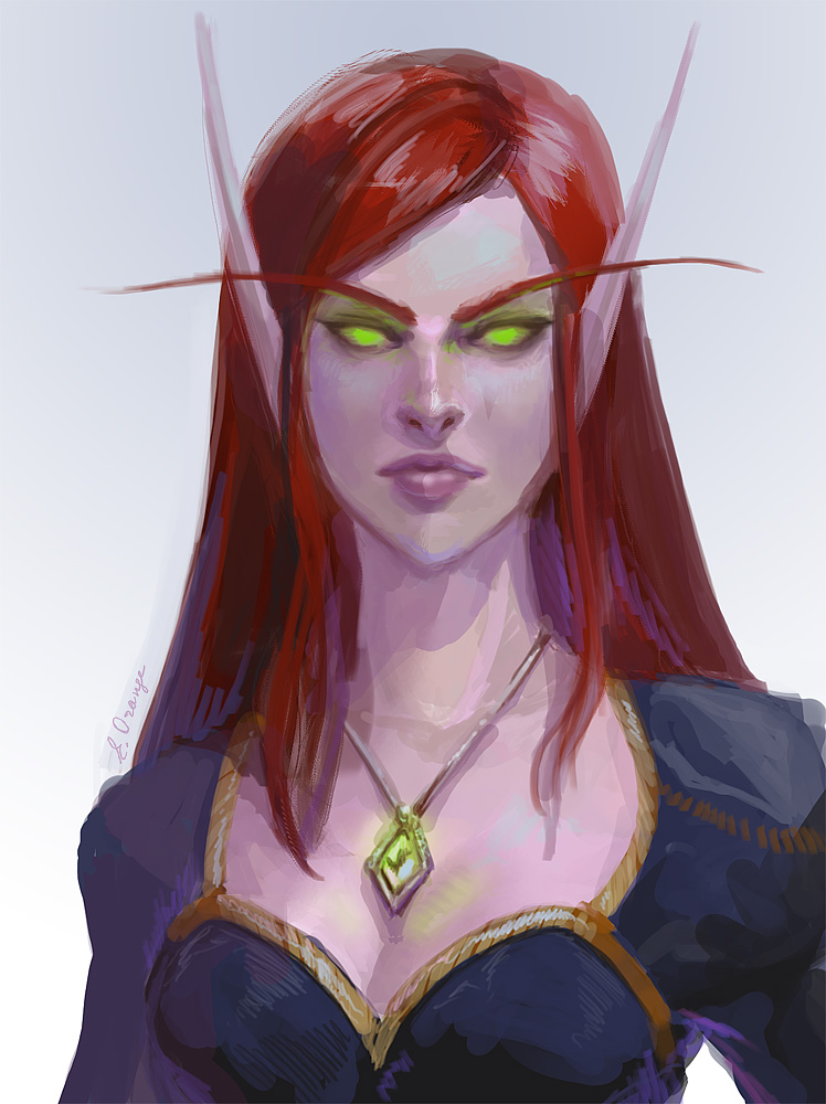 Blood elfie by AppleSin