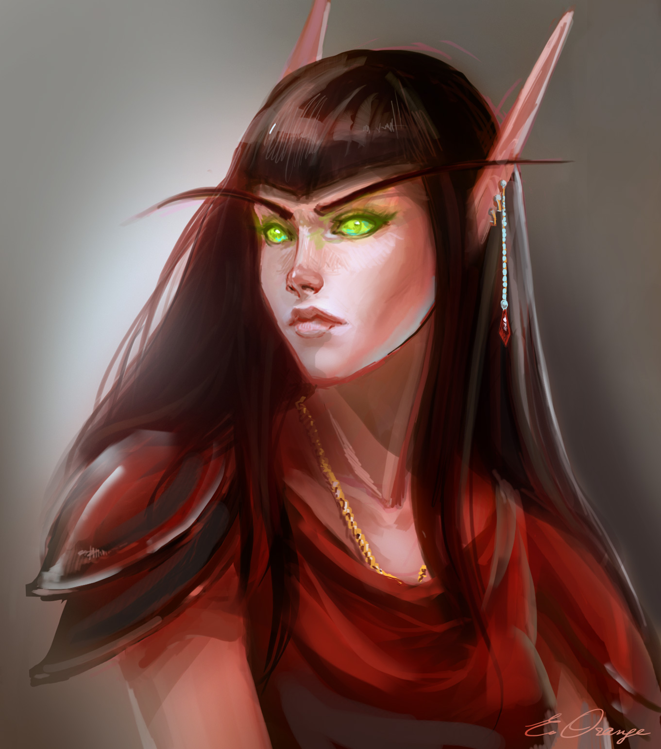 Blood elf commission by AppleSin
