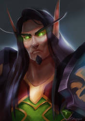 WoW: Virilion the blood elf by AppleSin