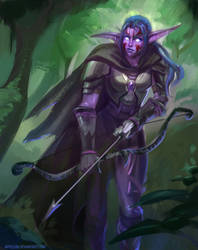 WoW: Night Elf. Commish by AppleSin
