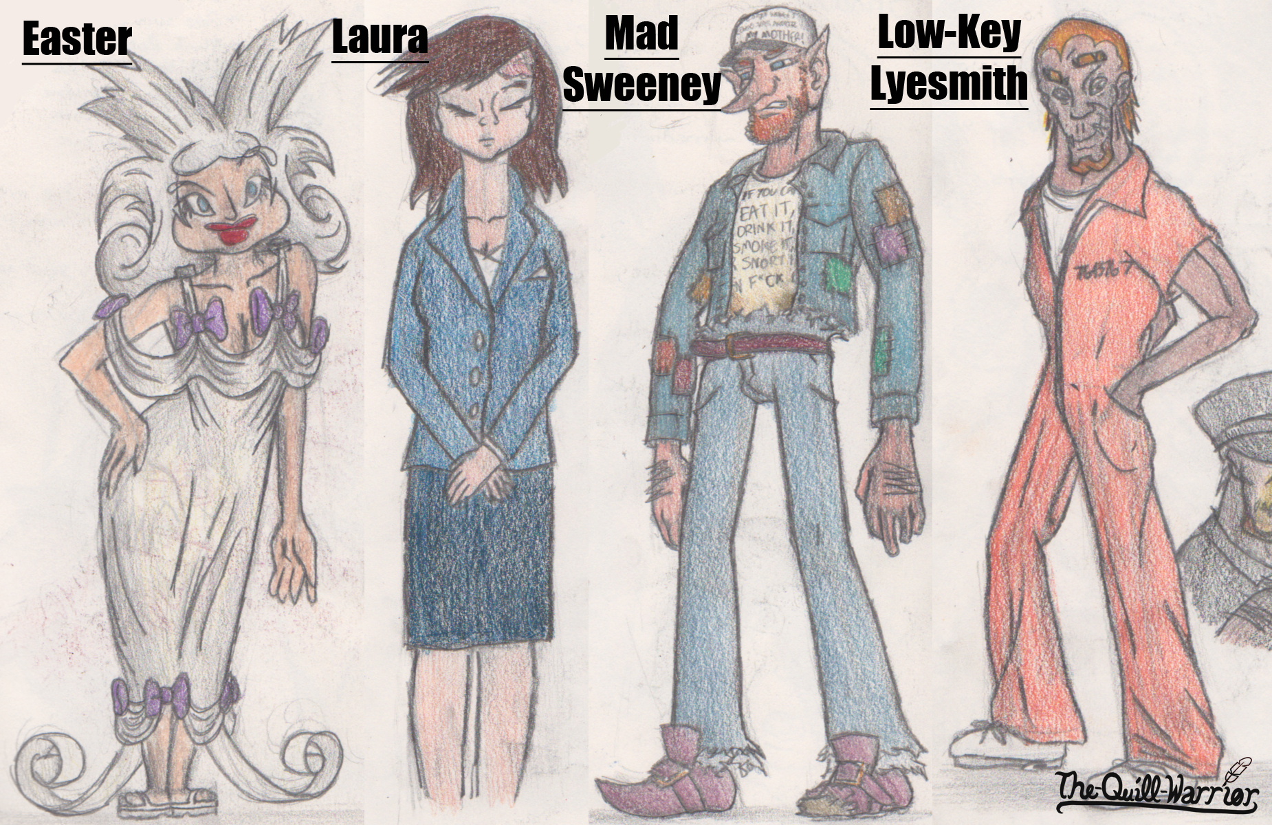 American Gods Character Sheet 2 By The Quill Warrior On