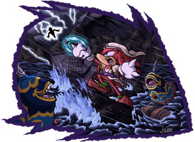 Knuckles in Pirate Storm by The-Quill-Warrior