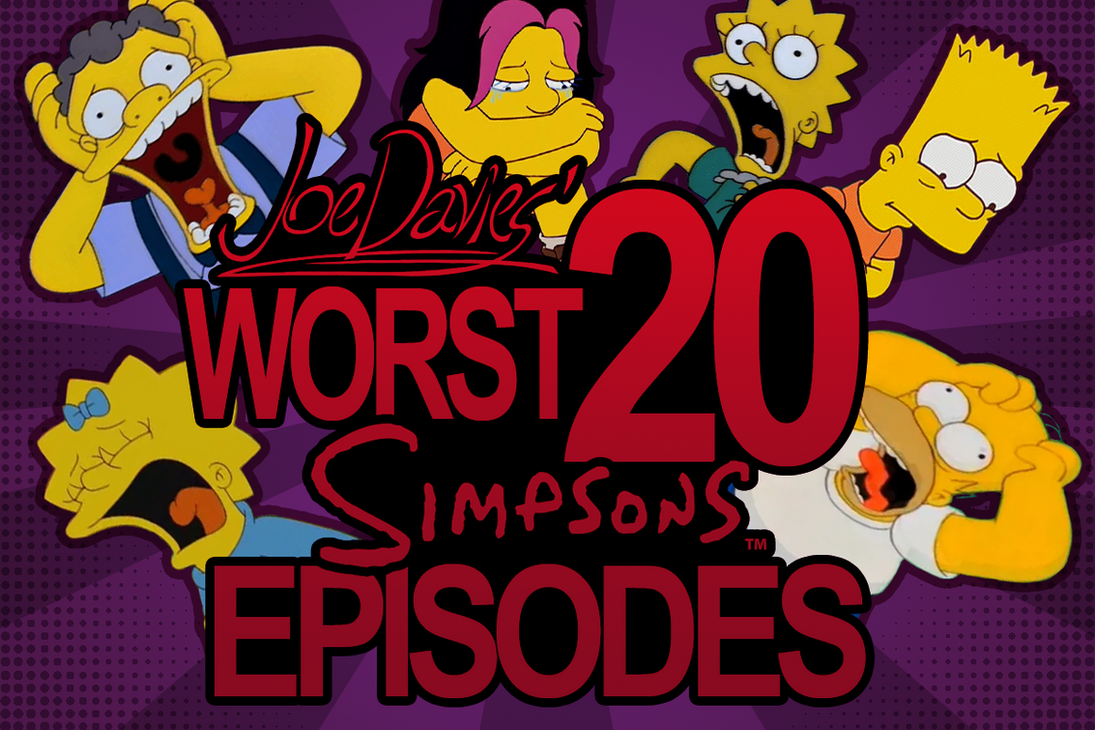 Simpsons Worst 20 by The-Quill-Warrior