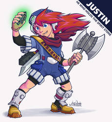 Grandia - Justin Touch-Up by The-Quill-Warrior