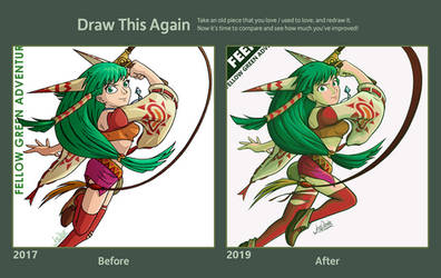 Feena Before and After by The-Quill-Warrior